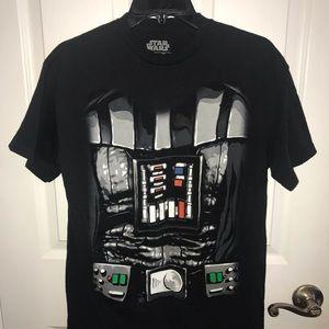 Star Wars Black Darth Vader Men's T-shirt Sz Med